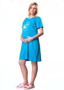 дамска нощница за бременни и кърмачки